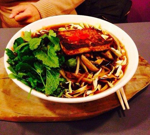 Saf Restaurant: Hot chilli tofu noodle soup dish