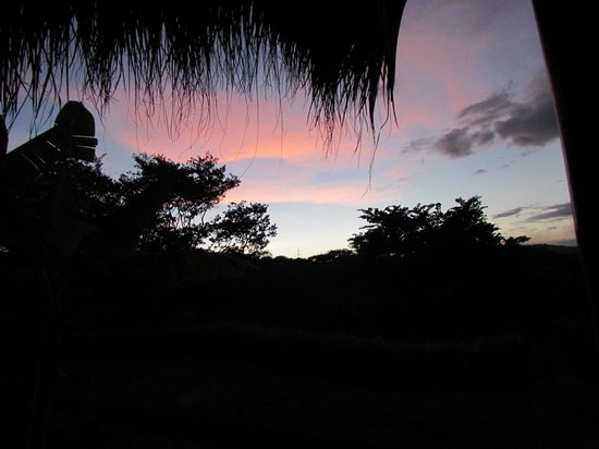 Hacienda Puerta Del Cielo Eco Spa: sunset from our private deck