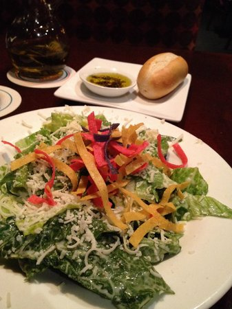 E&E Stakeout Grill: Start with a Caesar salad.