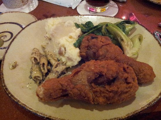 Aulani, a Disney Resort & Spa: Fried chicken good - bok choy not so good