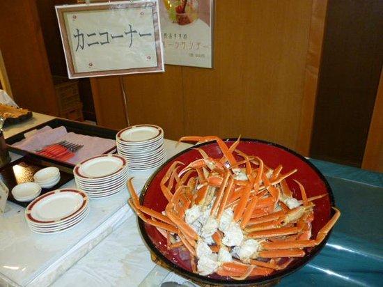 Gensen Yunoyado Sennotani: 自慢のずわいがに食べ放題