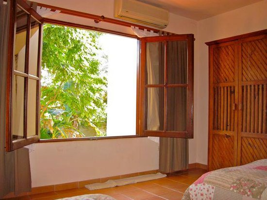 Cabarete Beach House at Nanny Estates : rear bedroom extra large windows