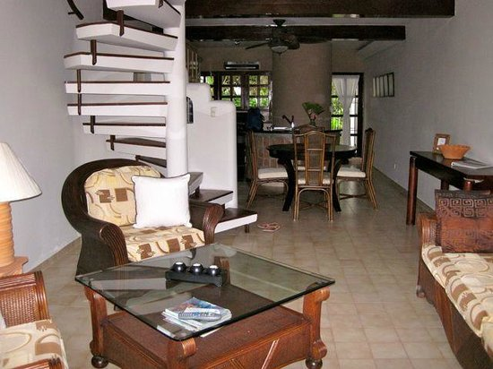 Cabarete Beach House at Nanny Estates: open plan lounge / dining / kitchen area