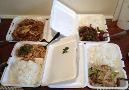 Hibiscus Thai Cuisine : Lots of Rice - Skimpy Entrees WTF?