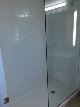 Residence Inn Portsmouth Downtown/Waterfront: Shower, not a spot on that glass!