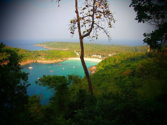 The Racha : View from our hike around the island
