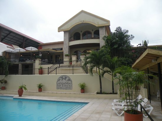 San Ignacio Resort Hotel: The back side of the hotel