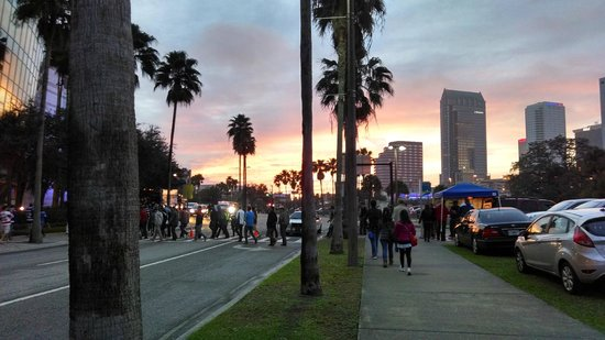 Amalie Arena: Sunset before game