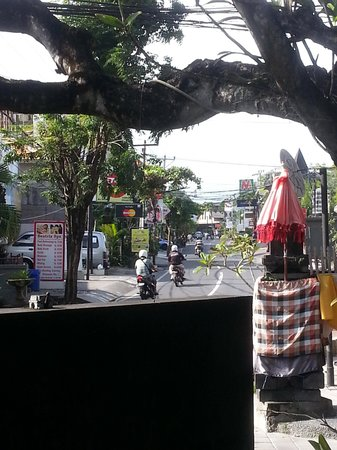 The Taman Ayu : View from restaurant front bench