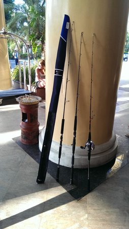 Phuket Fishing Charters: Fishing rod, took at hotel lobby