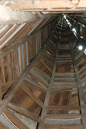 Shot Tower: Looking up the tower from the bottom