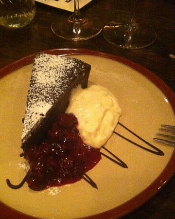 Parkside 23: Flourless chocolate cake and raspberry