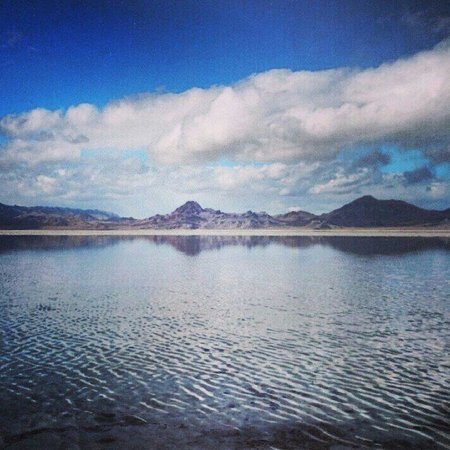Bonneville Salt Flats: These picture speaks for itself.