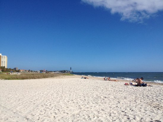 Fort Lauderdale Marriott Pompano Beach Resort & Spa : Beautiful beach in front if the hotel.