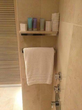 Conrad New York: inside shower