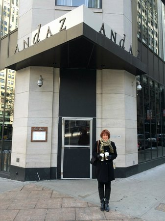 Andaz 5th Avenue: Looks like the main entrance but it's not