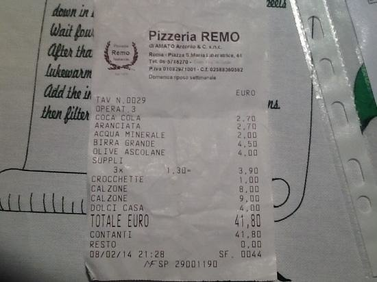 Pizzeria da Remo: un conto giusto se si cucina con ingredienti di qualita