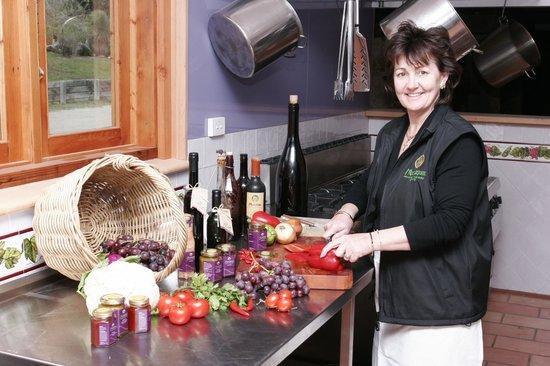 Moorebank Vineyard: Debra cooking up her condiments