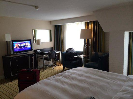 Renaissance Amsterdam Hotel: TV and window