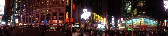 The Iroquois New York: View from next Corner at Times Square