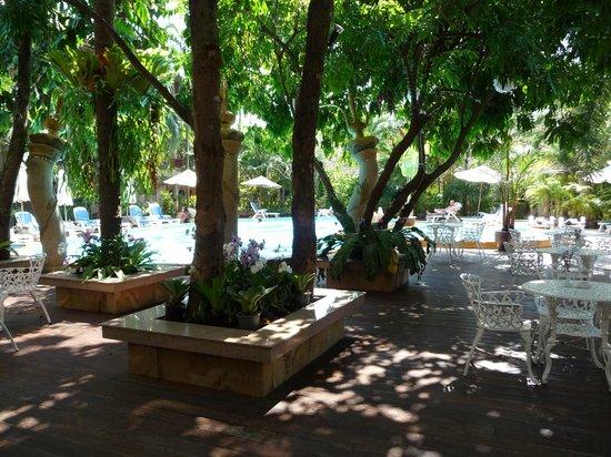 Aonang Princeville Resort : Территория. Вид от ресепшена.