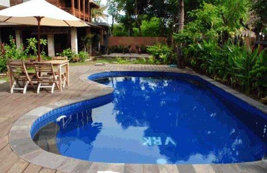 Villa Rumah Kayu: Swimming Pool Area