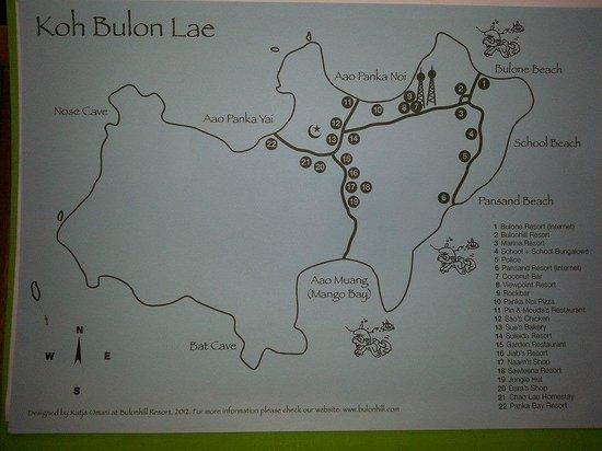 Bulonhill Resort: mappa