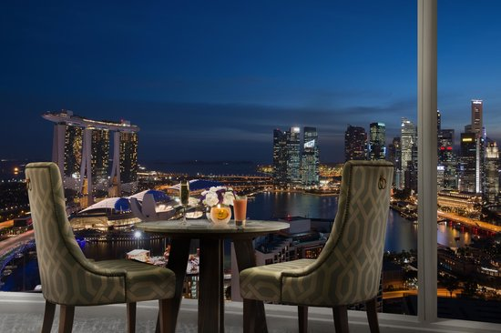 Pan Pacific Singapore: Panoramic views from Pacific Club Lounge