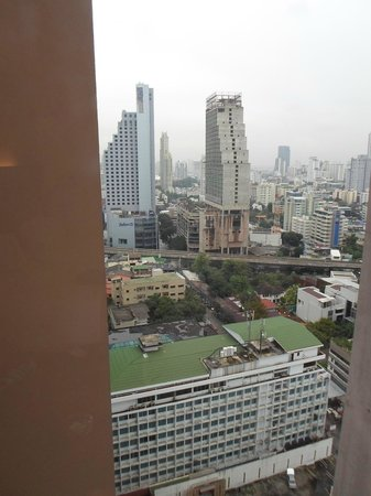 Rembrandt Hotel Bangkok: View, a smidgen of what was to be seen.