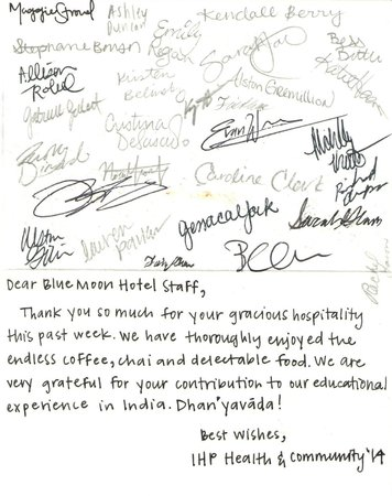 Hotel Blue Moon : GUEST COMMENTS