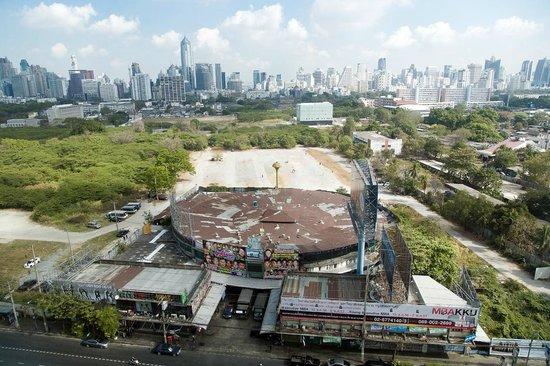 AETAS lumpini : View from my room over Lumpini Stadium