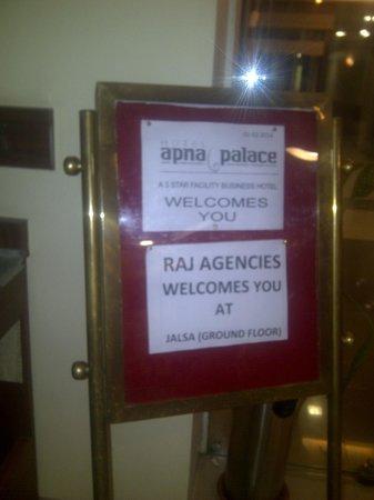 Hotel Apna Palace : JALSA - Entrance - Banquet hall