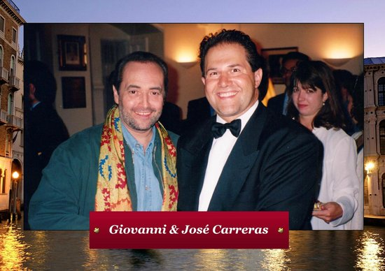 Giovanni's On the Hayes : Giovanni with Jose Carreras