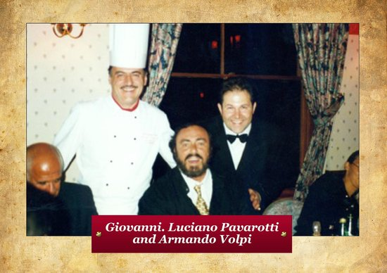 Giovanni's On the Hayes : Giovanni with Pavarotti