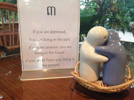 Peace Cafe: Nice message