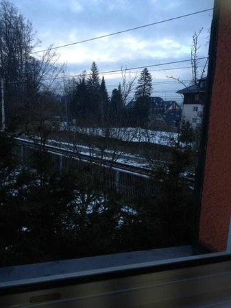 railway from the windows of Hotel Edelweiss in Kitzbuhel