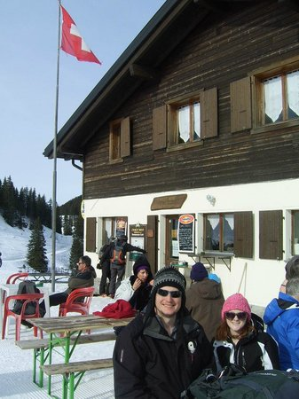 Morgins, Suisse : outdoor seating area