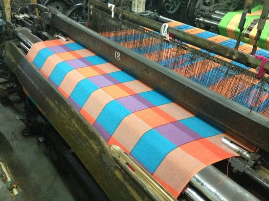 Templeberg Villa: The beautiful fabric produced in the local factory