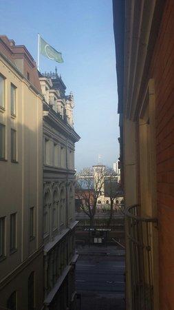 Elite Hotel Residens: Utsikt fra rommet mot Centralstationen