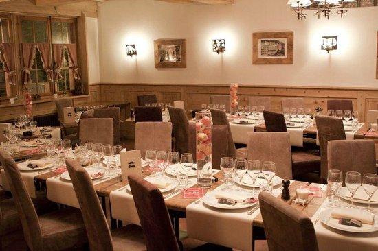 Restaurant Le Vieux-Chalet: La décoration des tables
