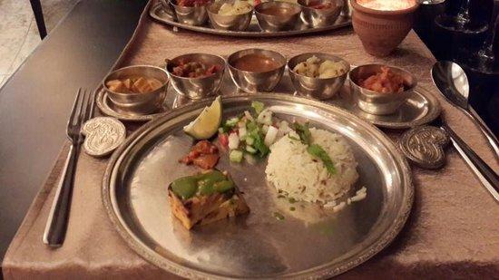 InterContinental Mauritius Resort Balaclava Fort : Veg Thali Food at veda restaurant