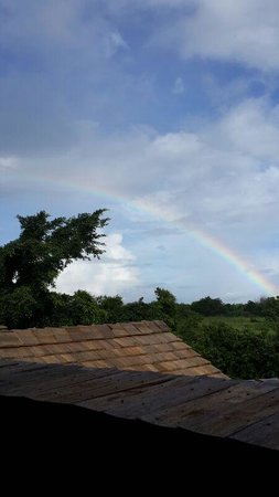 InterContinental Mauritius Resort Balaclava Fort: Spotted Rainbow from our Jacuzzi Terrace