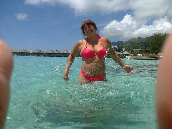 Sofitel Moorea Ia Ora Beach Resort: Disfrutando del la nitidez del agua