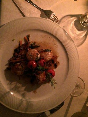 Restaurant Kanalfeuer: Coquilles Saint-Jacques - a delight