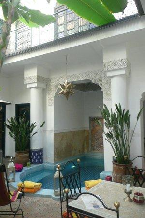 Riad Aloès : De binnenplaats