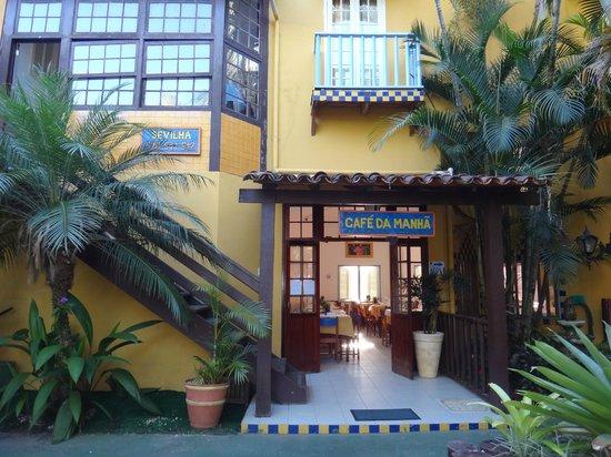 Pousada Villa del Sol: ENTRADA SALÃO DE CAFÉ DA MANHÃ