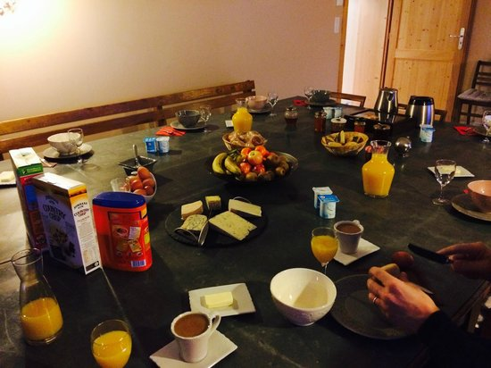 Chez Jeanmyvonne : ontbijt