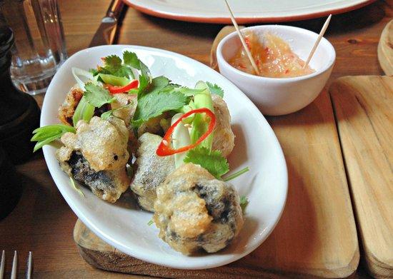 The Muddy Duck: Belly Pork and Black Pudding Tempura