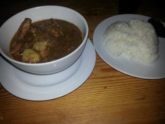 Blue House Thai Restaurant : Chicken Massaman Curry and Jasmine Rice