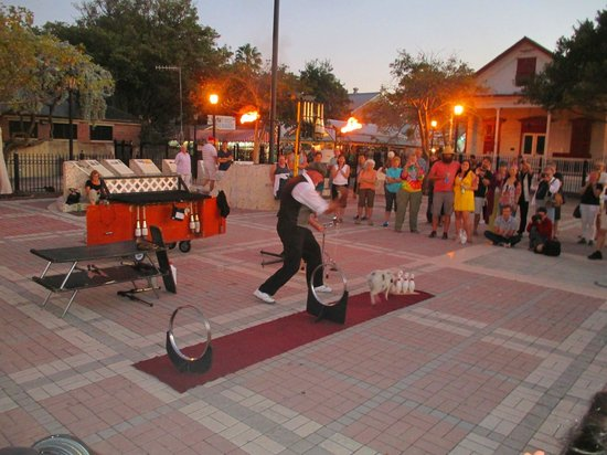 Plaza Mallory: Juggler & Trained Pig